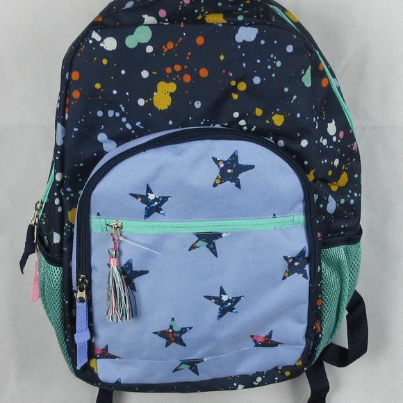 17 Splatter Star Cat /& Jack Kids Backpack